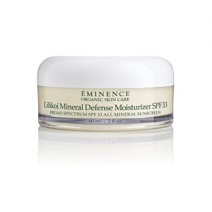 Eminence Organic Lilikoi mineral defense moisturizer spf 33 in Vancouver at the Spa On 4th and Online Shipping Canada and worldwide